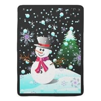 Snowman merry Christmas Receiving Blanket