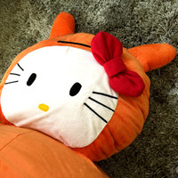 Bean Bag Orange Hello Kitty / Ugly Doll Oversize Chair