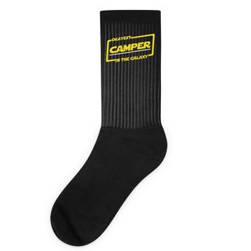 okayest camper in the galaxy funny camping Socks