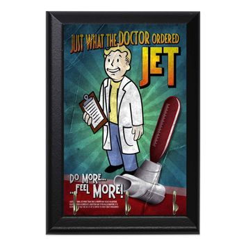 Jet! Just What The Doctor Ordered Fallout Geeky Wall Plaque Key Holder Hanger