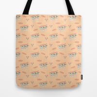 Fiesta!! Mariachi Cactus Band in Peach Tote Bag by CandyBoxDigital
