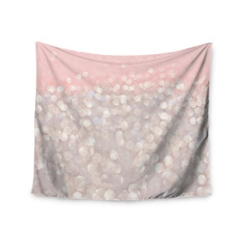 "Debbra Obertanec ""Magical"" Pink Glitter Wall Tapestry"