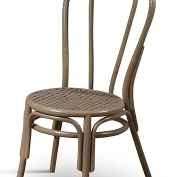 Thonet Style Bentwood Rattan Chairs in Grey