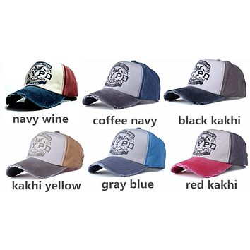 NYPD baseball cap fitted hat Casual cap 5 panel hip hop snapback hats wash cap for men women unisex