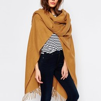 Pieces Oversized Blanket Wrap at asos.com