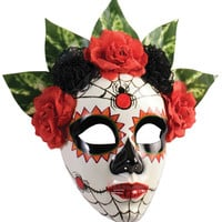 Day Of The Dead Senorita Spider Full Mask