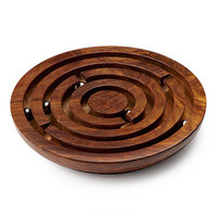 WOODEN LABYRINTH GAME | Marble Maze Puzzle | UncommonGoods