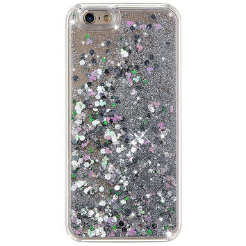 SILVER HOLOGRAM GLITTER IPHONE CASE