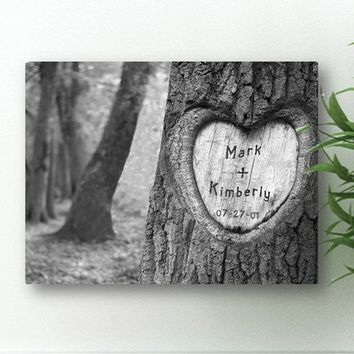 Tree of Love Canvas  -Carved