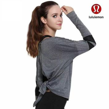 DCCKU62 Lululemon Women Fashion Tunic Shirt Top Blouse