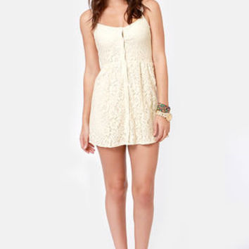 Volcom Not So Classic Cream Lace Dress