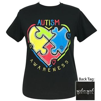 Girlie Girl Originals Preppy Autism Awareness T-Shirt