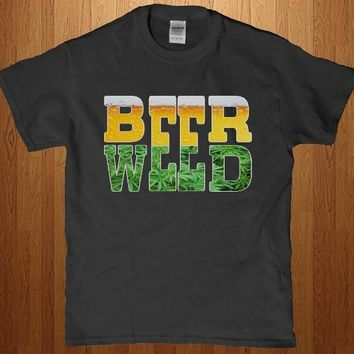 Beer weed awesome Party t-shirt - Brand New