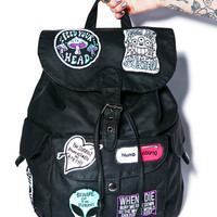 Disturbia Numb Backpack Black One