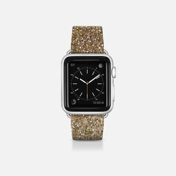 ombre gold glitter watch band Apple Watch Band (38mm)  by Sylvia Cook | Casetify