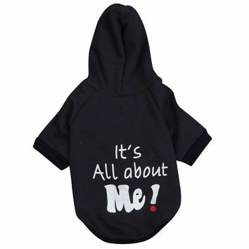 AMA(TM) Pet Cat Dog Doggy Cotton Soft Warm Letters Print Vest Shirt Hoodie Small Puppy Jacket Coat Apparel Costume