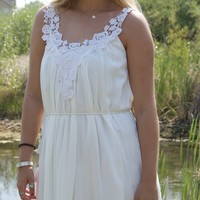 Casual All White Dress