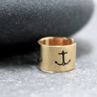 Anchor,Cartilage, Ear Cuff, Band, Wrap,14K Gold Filled, 5mm