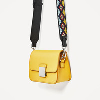 CROSSBODY BAG WITH MULTICOLOURED STRAP