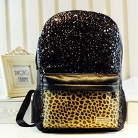 Fashion Shiny Leopard Backpack Bag