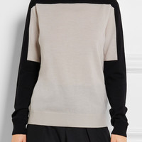 Jil Sander - Color-block wool turtleneck sweater