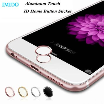 IMIDO 5Pcs/lot Aluminum Touch ID Home Button Sticker for iPhone 7/6/6S/6 Plus SE/5S with Fingerprint Identification Function