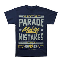 Mayday Parade Men's  Mistakes T-shirt Blue Rockabilia