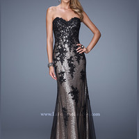 Sweetheart Sequin And Lace Mermaid La Femme Prom Dress 21088