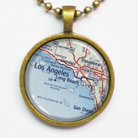 Personalized Necklace, Los Angeles .. on Luulla