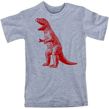 The Big Bang Theory Dangerously Red TRex Dinosaur by happyfamily