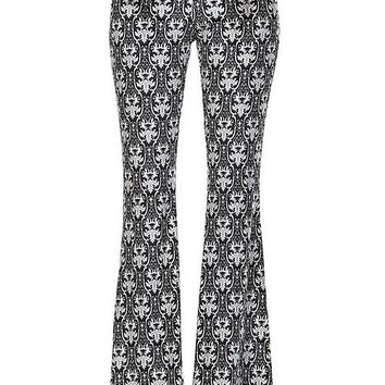 Medallion Print Boho Yoga Pants