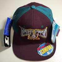 STARTER ORIGINAL PURPLE MIGHTY DUCKS FITTED HAT SIZE 1 (6 5/8- 7 1/8)