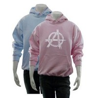 Women`s Blue Anarchy Hoodie S - Created using a list of some of the best and most popular Punk Songs...
