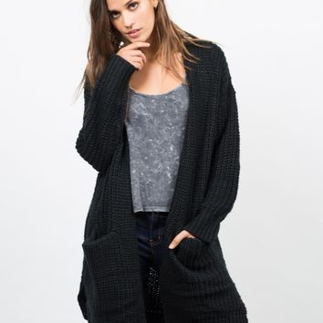 Chunky Oversized Knit Cardigan