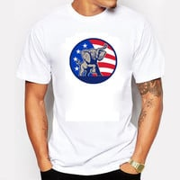 2016 Donald Trump T Shirt Men USA President Candidate Republican Election Campaign Vote Election Fitness Cotton White Tshirts