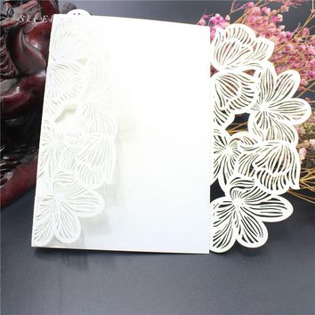 Laser Cut Marriage Postcard Wedding Invitations Cards
