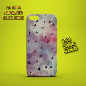 BIRD FLY RAINBOW Design Custom Phone Case for iPhone 6 6 Plus iPhone 5 5s 5c iphone 4 4s Samsung Galaxy S3 S4 S5 Note3 Note4 Fast!