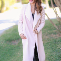 Stack the Deck  Coat - Blush