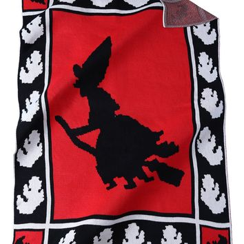 High Quality Witch Pattern Knitted Rectangle Blanket