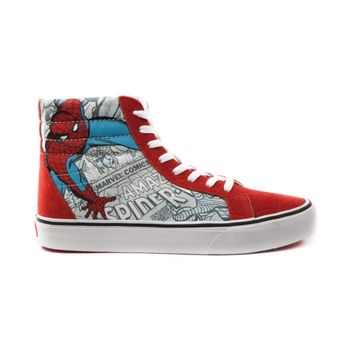 Vans Sk8 Hi Spider-Man Skate Shoe, Red White, at Journeys Shoes