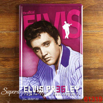 Rock Roll Singer Elvis Presley Tin Metal Sign Poster Music Zone Decor L-64 15*20cm