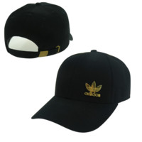 Black Adidas Logo Embroidered Outdoor Baseball Cap