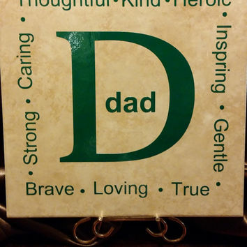 Personalized Tile, Family Tile, Father, Dad, Grandfather