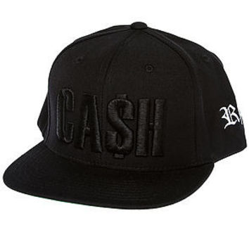 Cash Snapback (Black on Black)