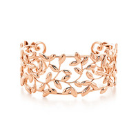 Tiffany & Co. - Paloma Picasso® Olive Leaf cuff in 18k rose gold, small.