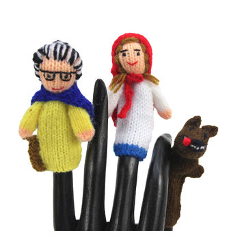 Red Riding Hood Finger Puppet Set of 3