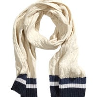 H&M - Cable-knit Scarf - Light beige - Ladies