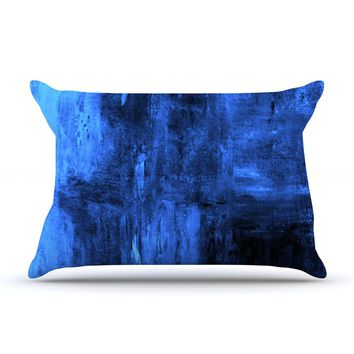 "CarolLynn Tice ""Deep Sea"" Blue Pillow Case - Outlet Item"