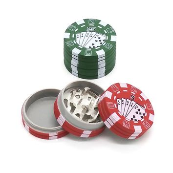 3 Layers Poker Chip Style Herb Herbal Tobacco Grinder
