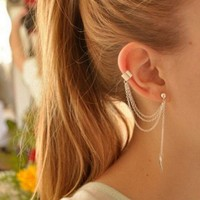 Tassels Chain Metallic Ear Cuff Earring